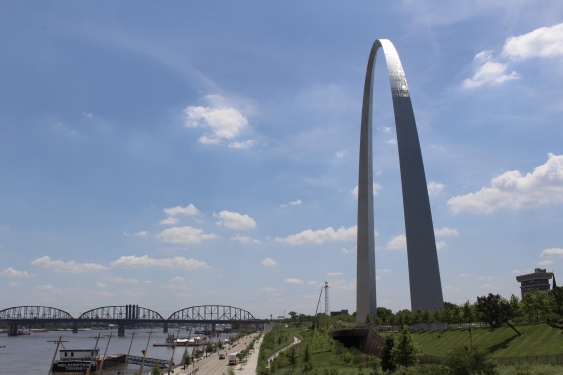 Mississippi River and the Arch