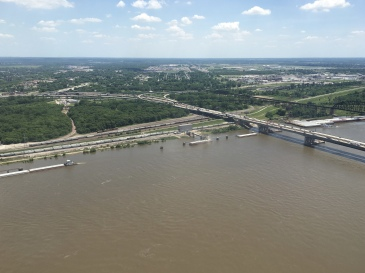 view east of Mississippi River to Illinois