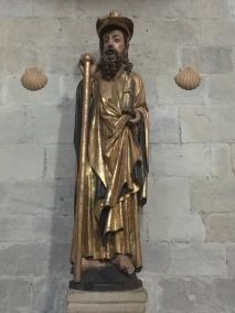 gilded statue of Santiago Peregrino (Beltxa)