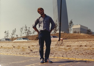 Bill at Gateway Arch 1979