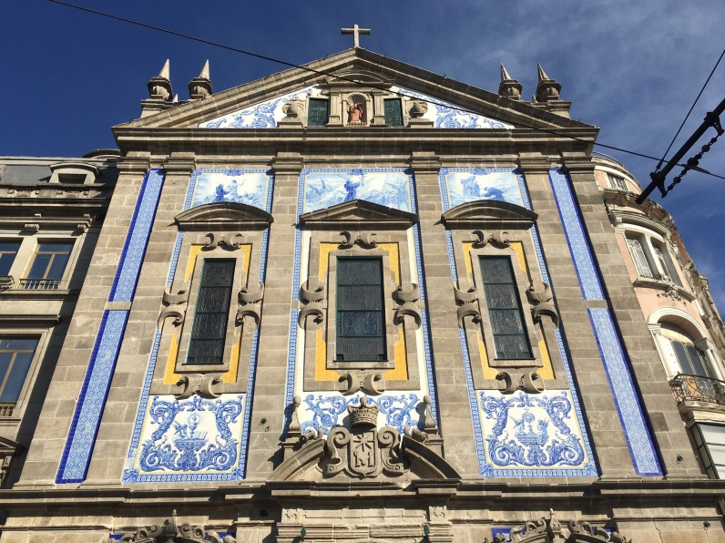Azulejo-covered church