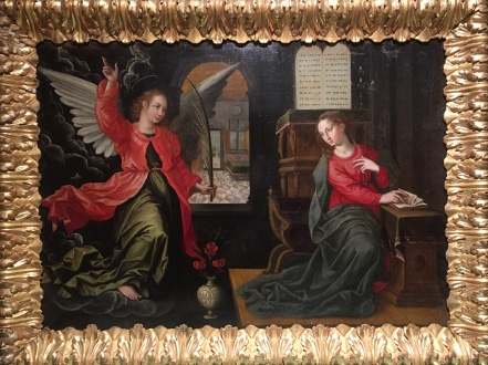 Painting in the museum