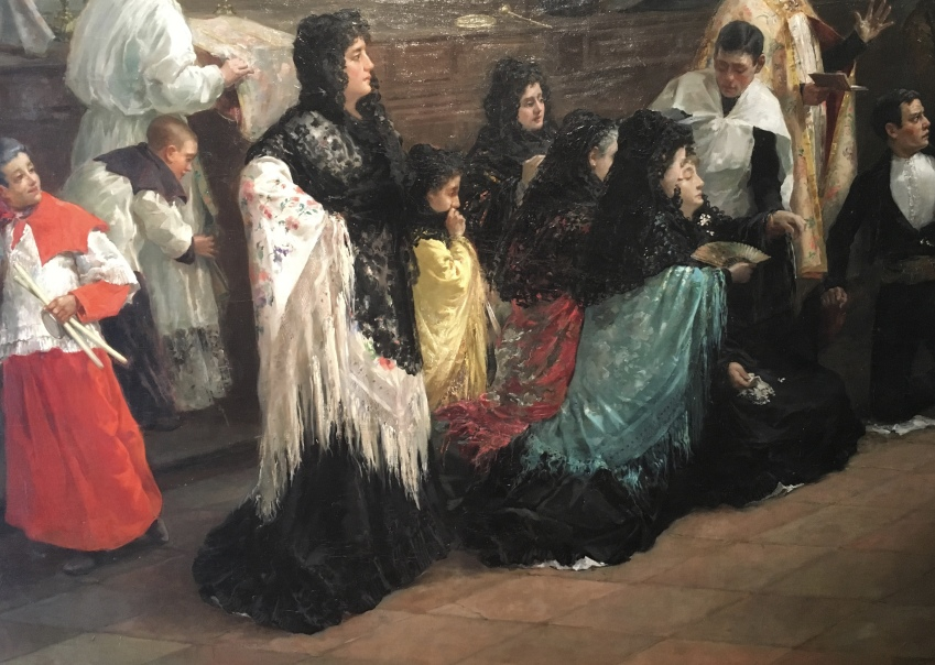 detail Interrupted Wedding by Eugenio Oliva Rodrigo 1885