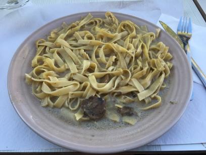 tagliatelle with funghi