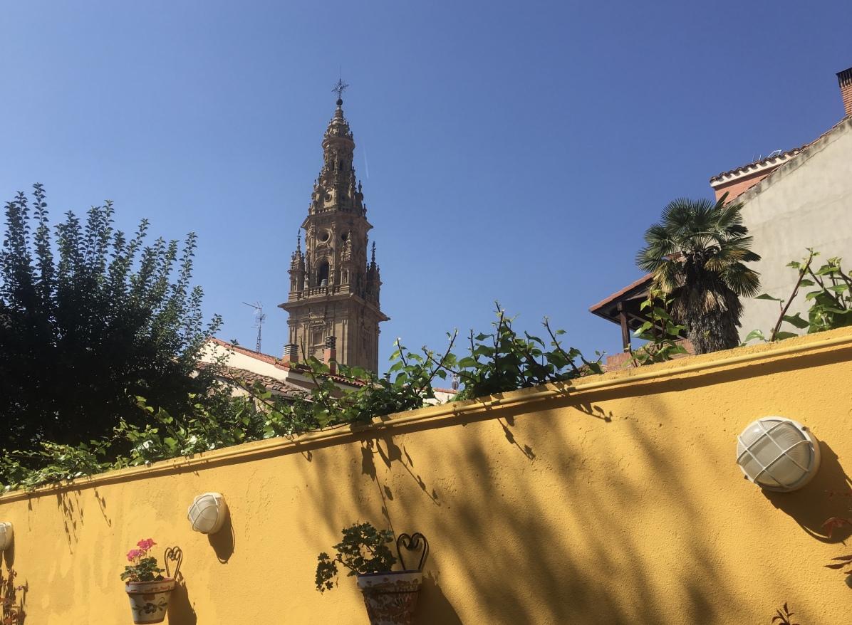 view over the wall from Casa de la Cofradía del Santo