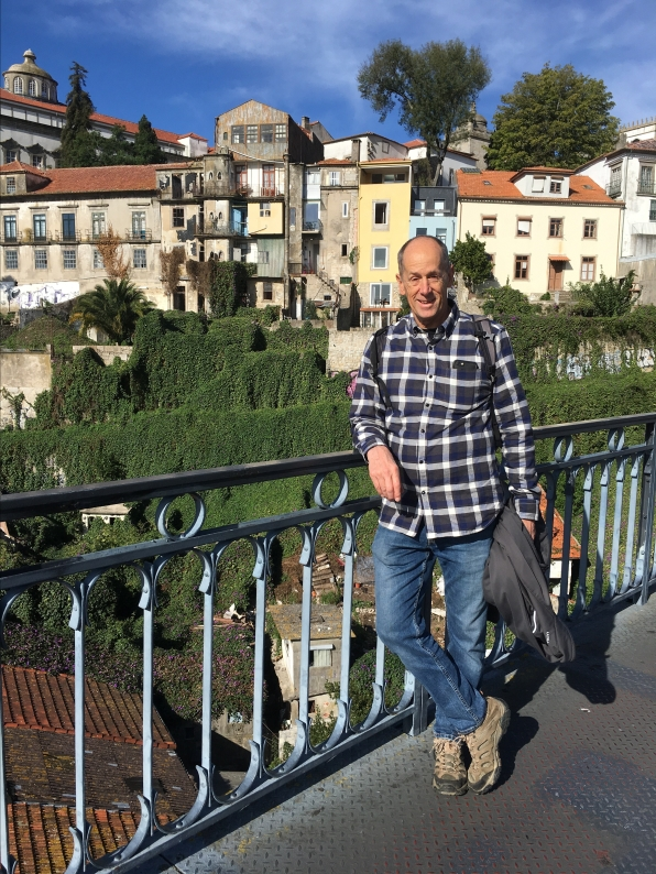 Mike on the Ponte de Dom Luis I
