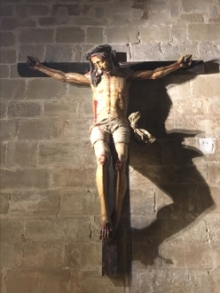 Christ on the cross at Cathedral of Santo Domingo