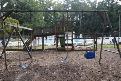 swings at the pool
