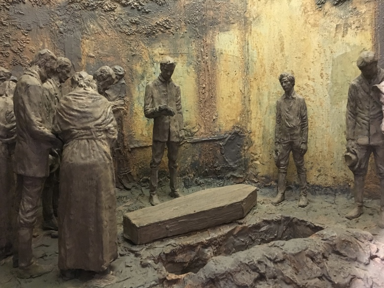 diorama of Nancy Hanks Lincoln's burial