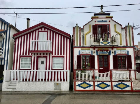 striped and tiled buildings of Costa Nova