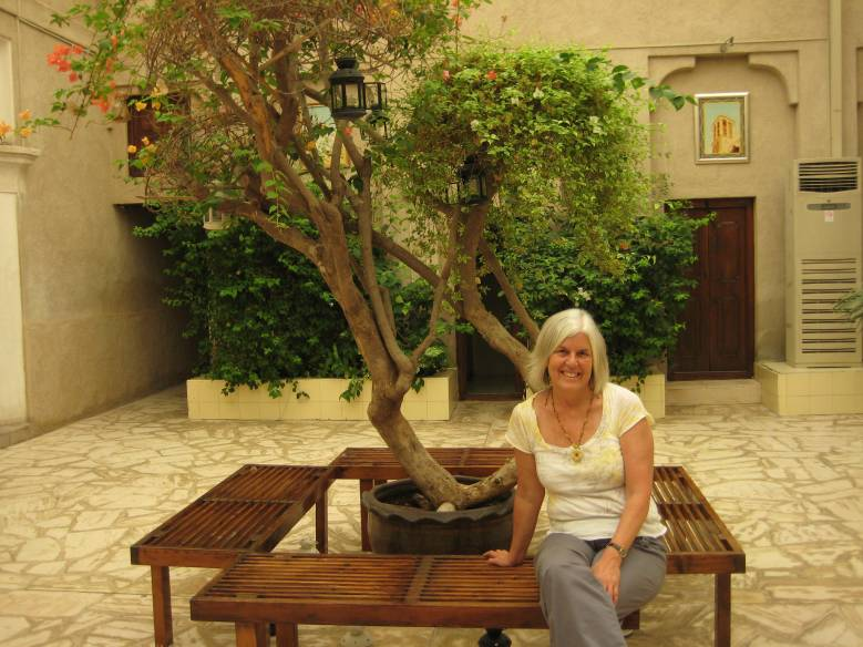 me in the courtyard at Bastakiya