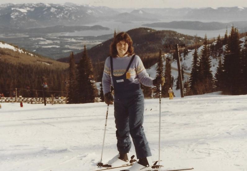 me skiing near Coeur d'Alene