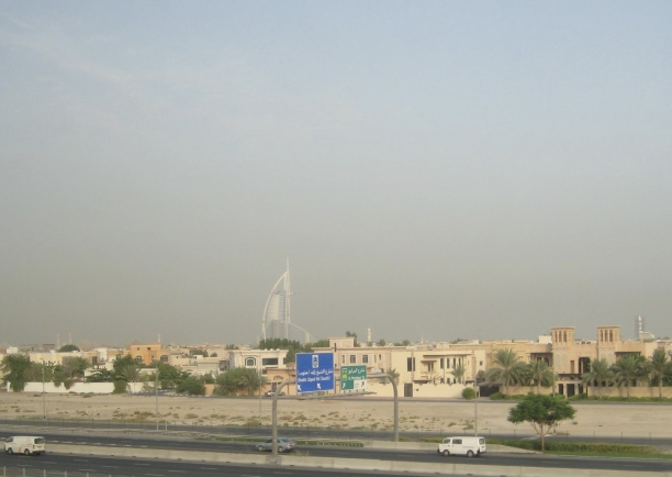 Dubai & Burj al Arab from the metro window