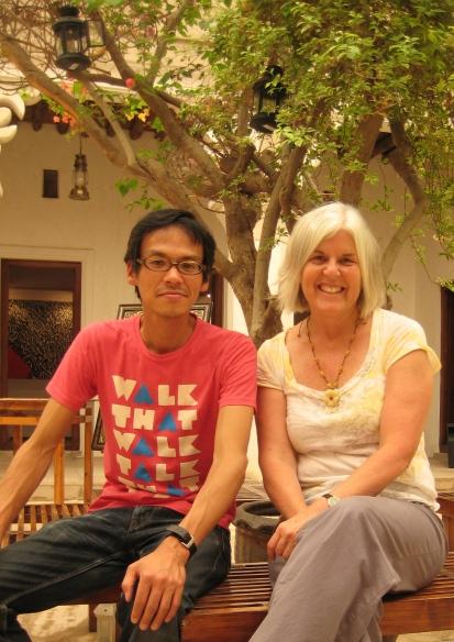 Tomomi & me at Bastakiya