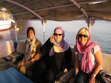 Shannon, Lisa and me on the felucca