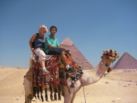 Ahmed and me on the camel