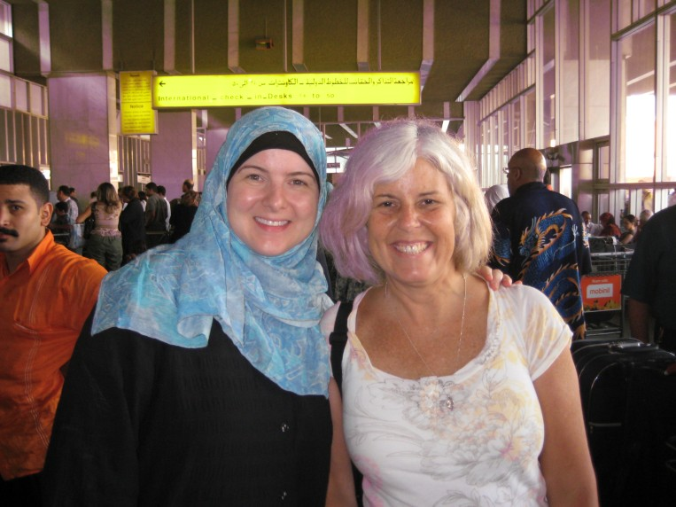 Lisa and me at the airport