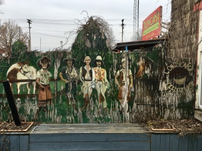 mural behind Longbranch