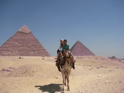Ahmed Seddik and I on a camel