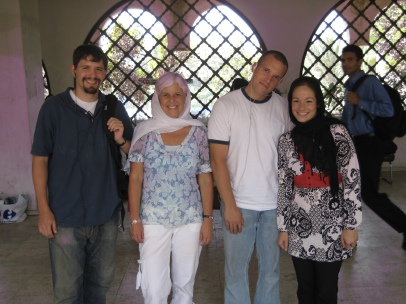 """the """"infidels"""": Kevin, me, Clint and Shannon"""