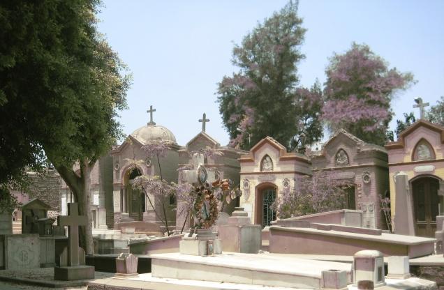 Greek Orthodox Cemetery in Coptic Cairo