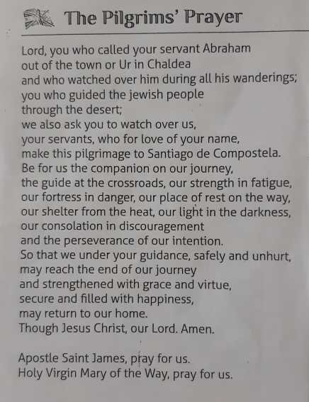 a pilgrim prayer shared by Darina