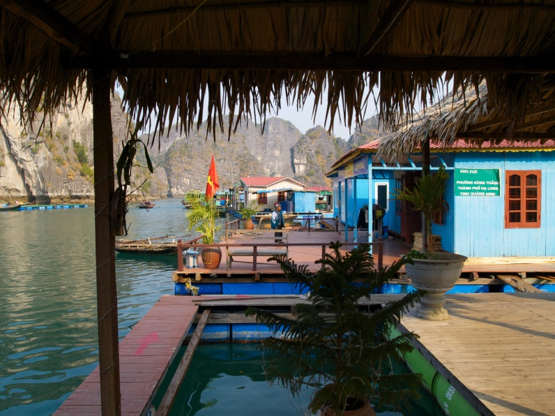 floating fishing villages of Halong Bay