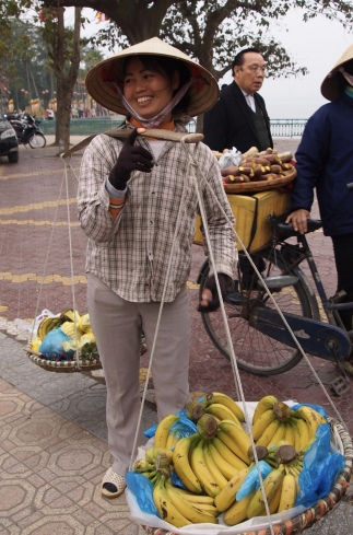 banana seller near West Lake