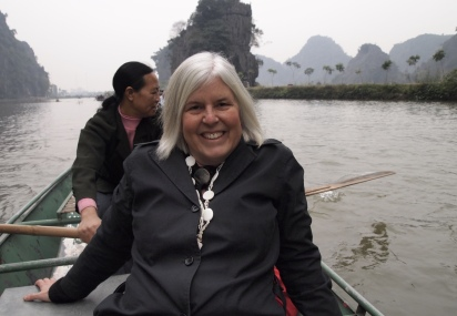 me in a boat at Tam Coc