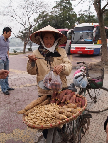 vendor in West Lake, Hanoi