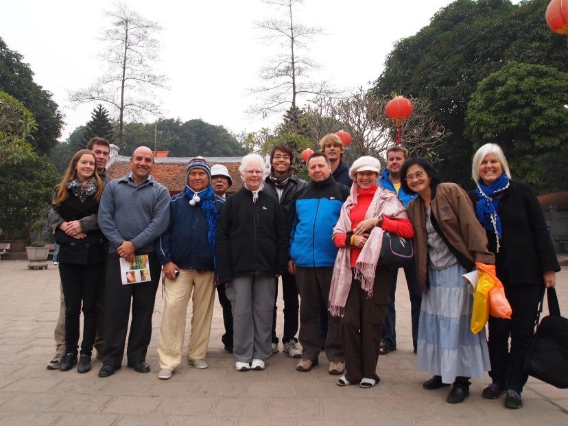 our group at Hoan Kiem Lake