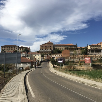 entering suburbs of Astorga