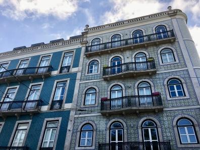 tiled façades