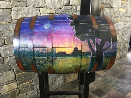 painted barrel at Town Branch