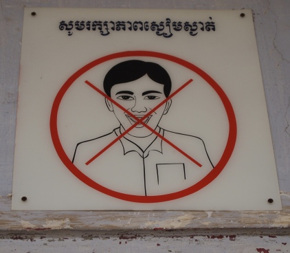 no laughing aloud at Tuol Sleng