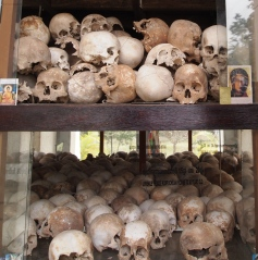8,000 skulls in the stupa