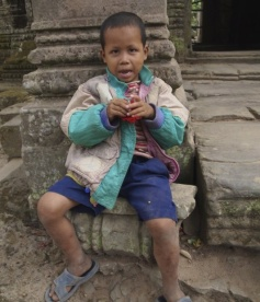 child at Preah Khan