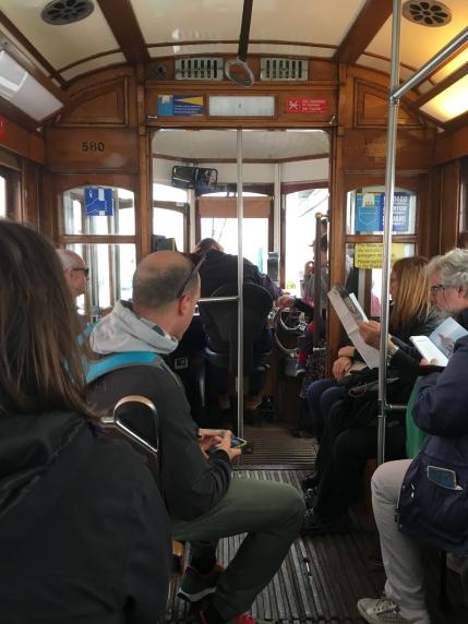 riding Tram 28