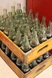 empty Coca-Cola bottles