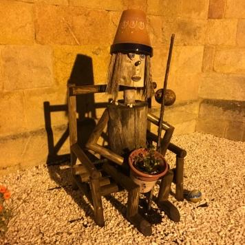pilgrim at Mosteiro da Madalena
