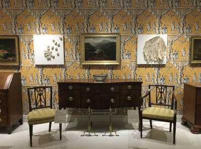Early American furniture & wallpaper