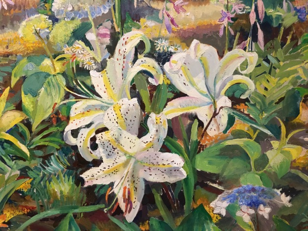 Detail: Untitled (flowers in garden), 1957 by Ethel Pennewill Brown Leach