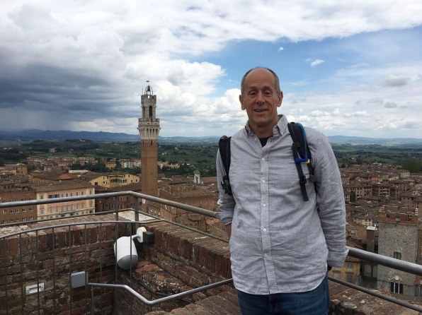 Mike overlooking Siena