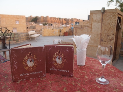 the rooftop restaurant Saffron in Jaisalmer