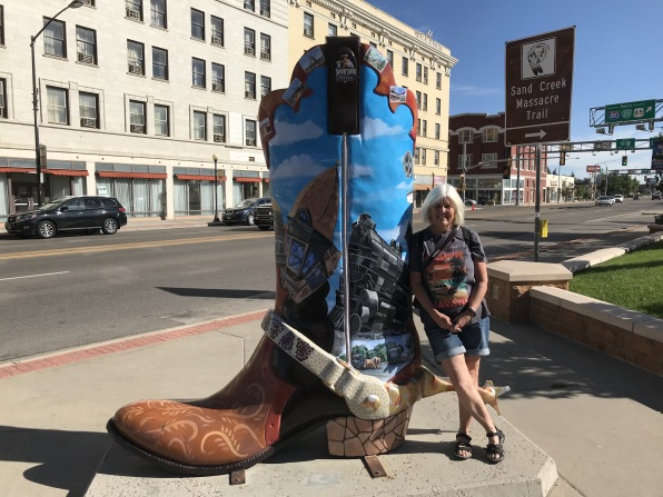me with painted boot in Cheyenne, Wyoming