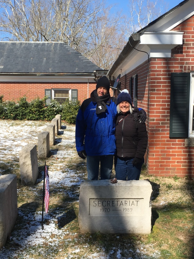 Mike and I at Secretariat's grave