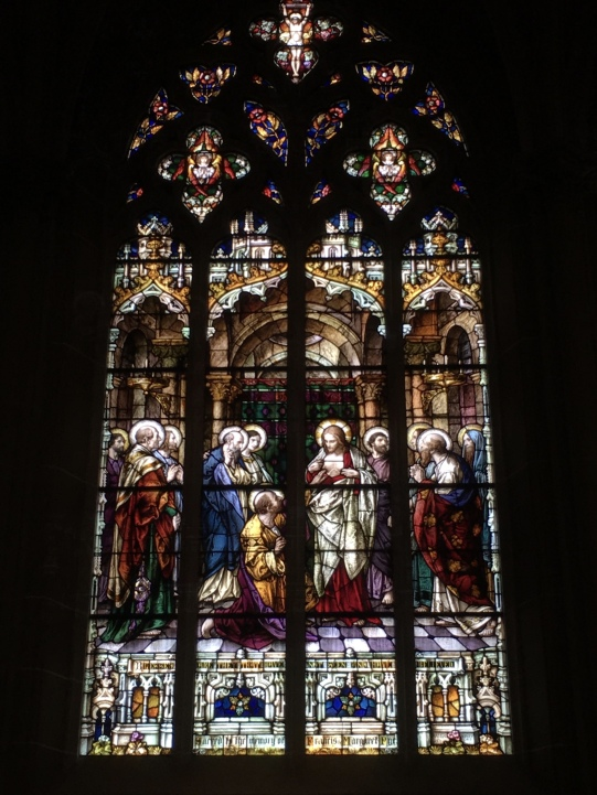 Stained glass in St. Mary's Cathedral Basilica of the Assumption in Covington, KY