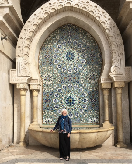 me at Hassan II Mosque