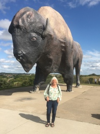 me with the World's Largest Buffalo in Jamestown, ND