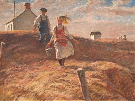 """The Prairie is My Garden"" by Harvey Dunn at the South Dakota Art Museum"